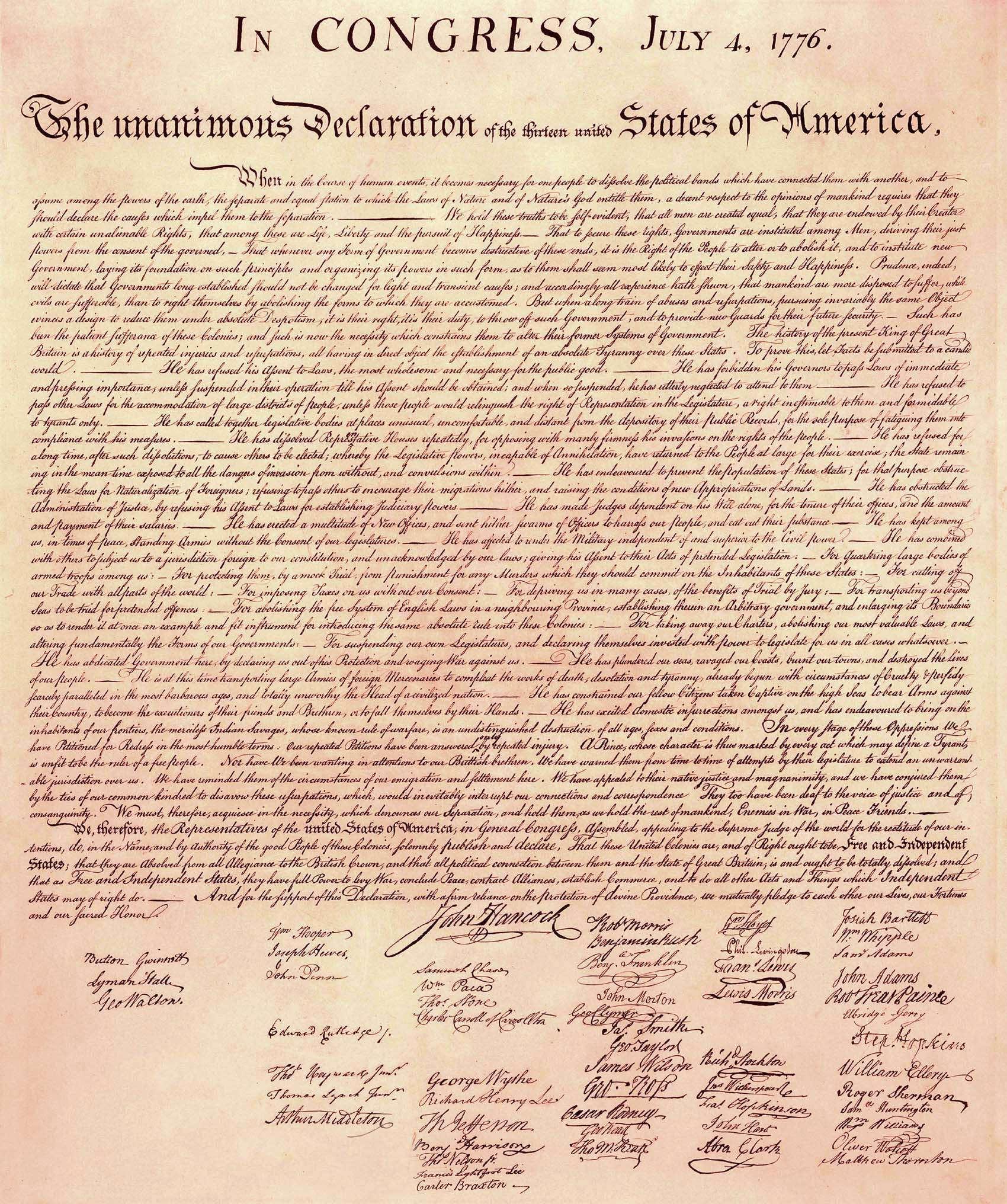 The Kick Them All Out Project - The Declaration Of Independence